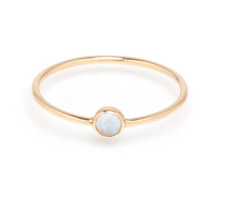 Zoë Chicco 14kt Large Opal Bezel Stackable Ring