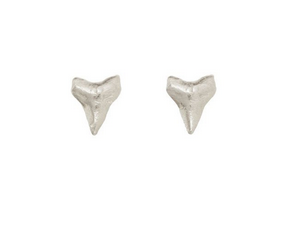 Catherine Weitzman Sterling Silver Mini Shark Tooth Stud Earrings