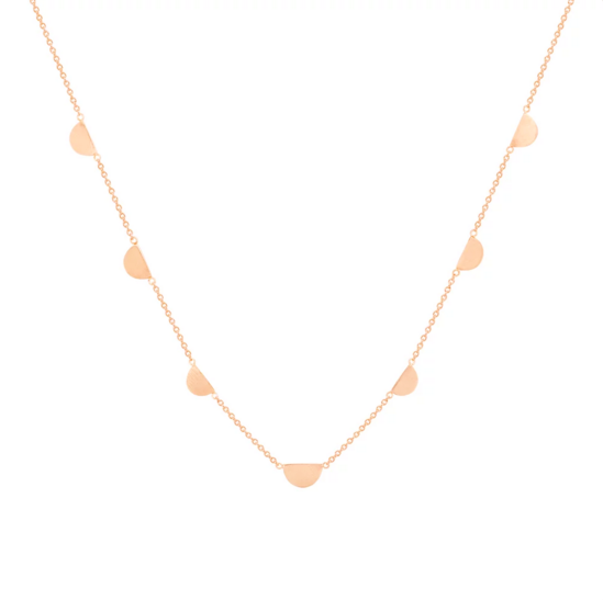 Hortense 14kt 7 Half Moon Necklace