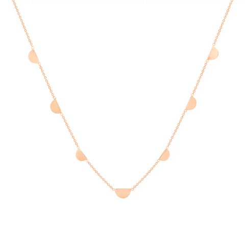 Hortense 14K 7 Half Moon Necklace