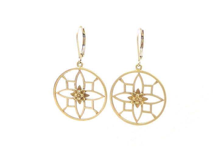 Exclusive 14kt Ornate Recoleta Dangle Earrings