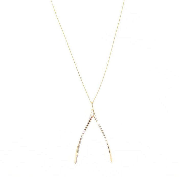 Exclusive Turkey Wishbone Pendant Necklace