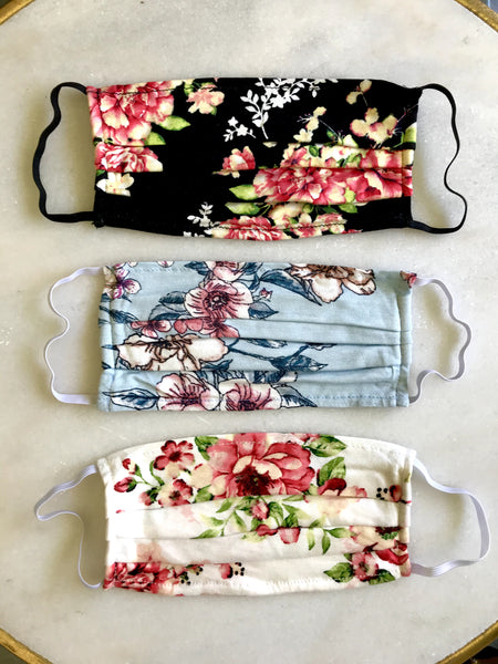 Floral Face Masks (Set of 3)