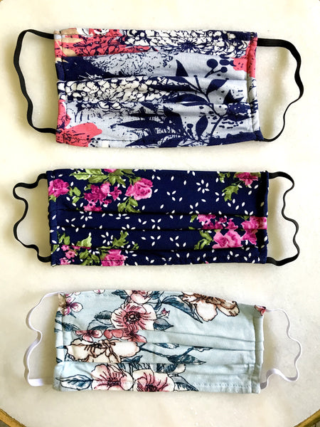 Floral Face Mask Set of 3