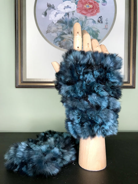 Printed Mandy Fingerless Mittens