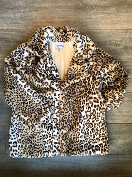 Faux Leopard Coat