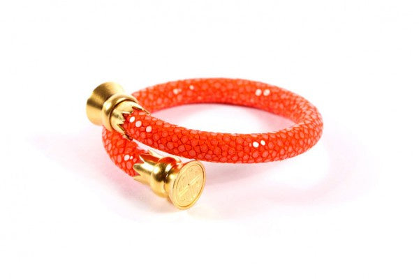 Stingray Bangle in Orange