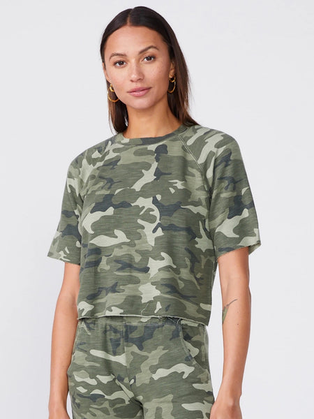 Urban Camo Supersoft Cut Off Sweatshirt