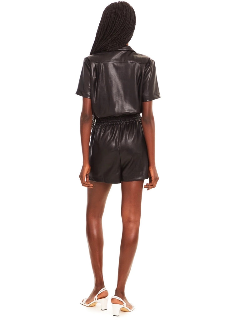 Faux Leather Micki Romper