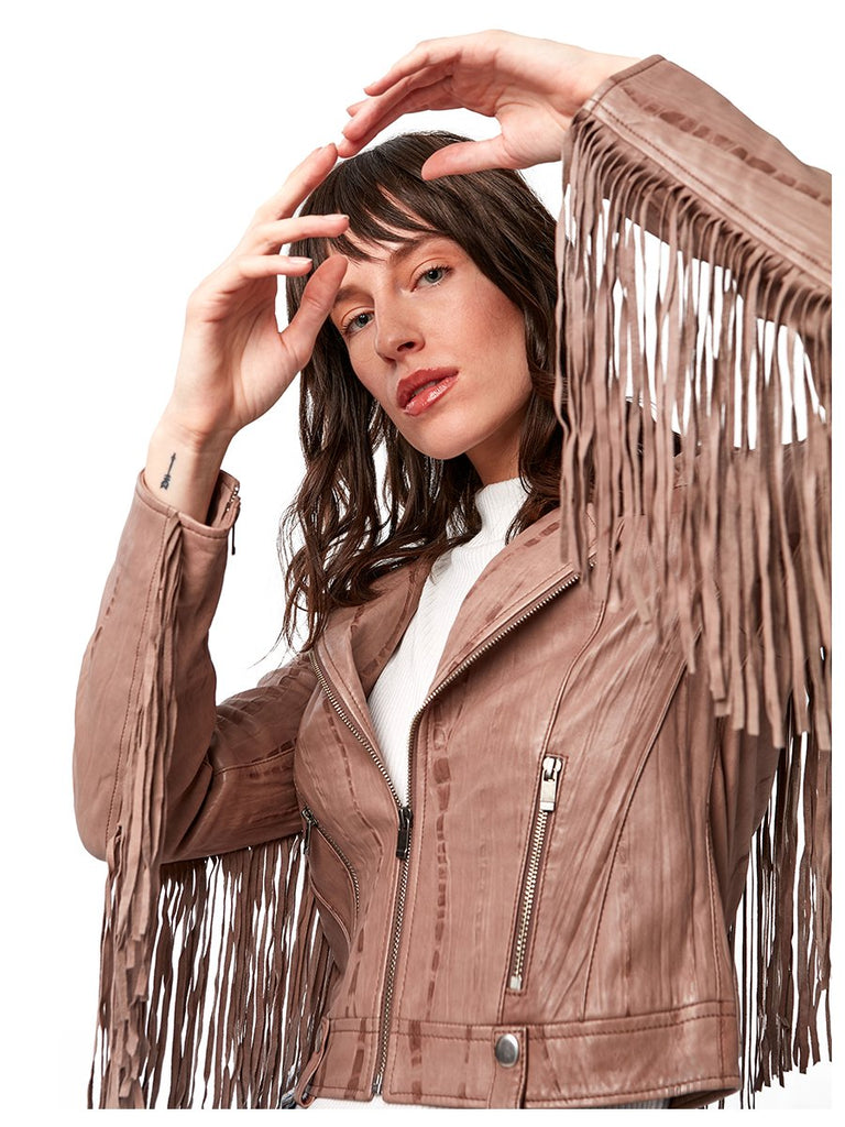 One Love Fringe Moto Jacket