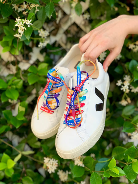The Laces Rainbow Tie Dye Shoelaces