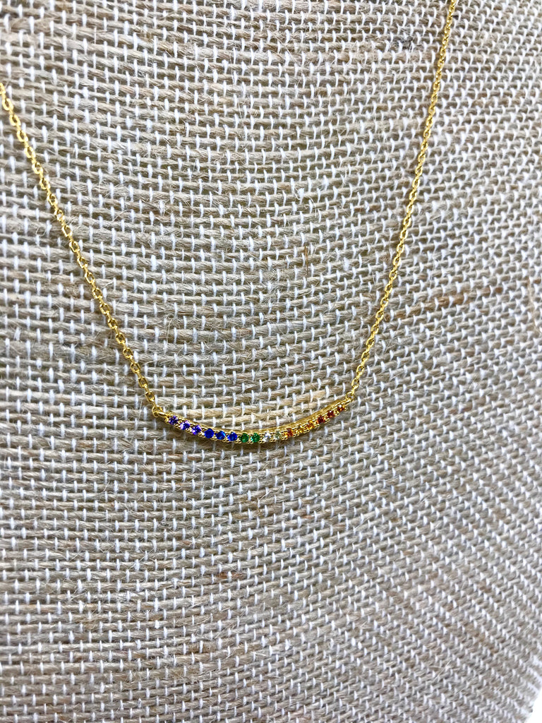 Chakra Swoop Bar Necklace
