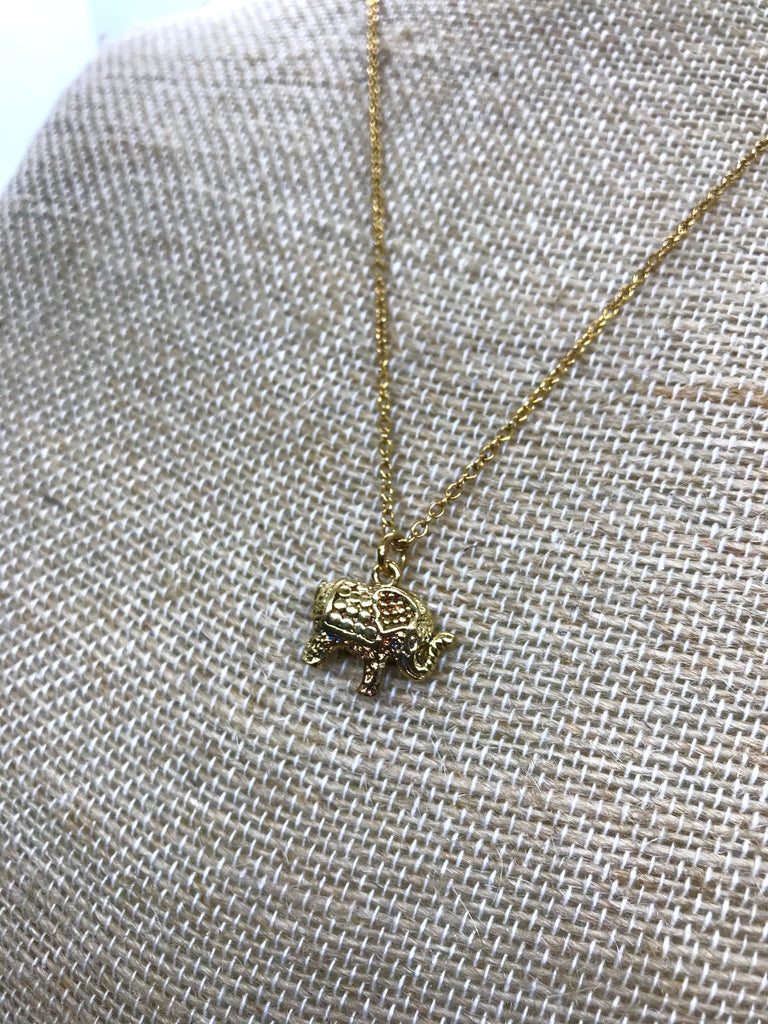 Small Elephant Pendant Necklace