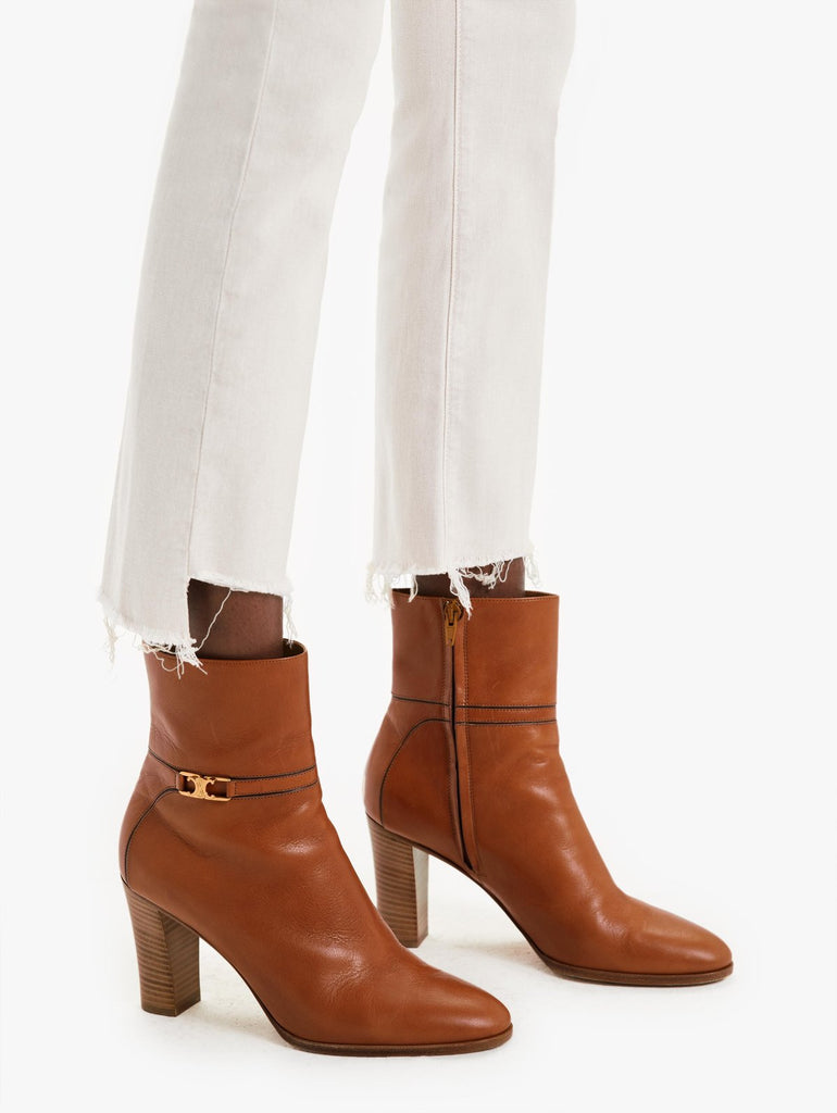 The Insider Crop Step Fray in Toasted Ivory