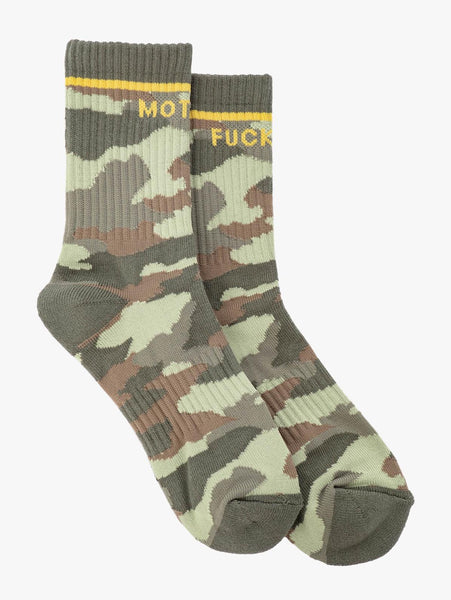 "Baby Steps Camo ""Mother F*cker"" Socks"