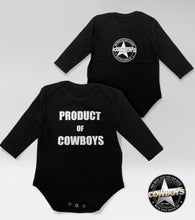 Load image into Gallery viewer, Product of Cowboys Baby Onesie