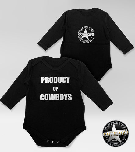 Product of Cowboys Baby Onesie