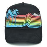 Rainbow Palm Tree Trucker Hat