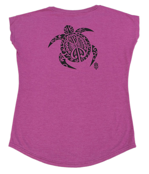Honu 3 Turtle Ladies V-Neck T-Shirt