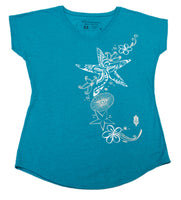Starfish ladies V-Neck T-Shirt (X-Large)