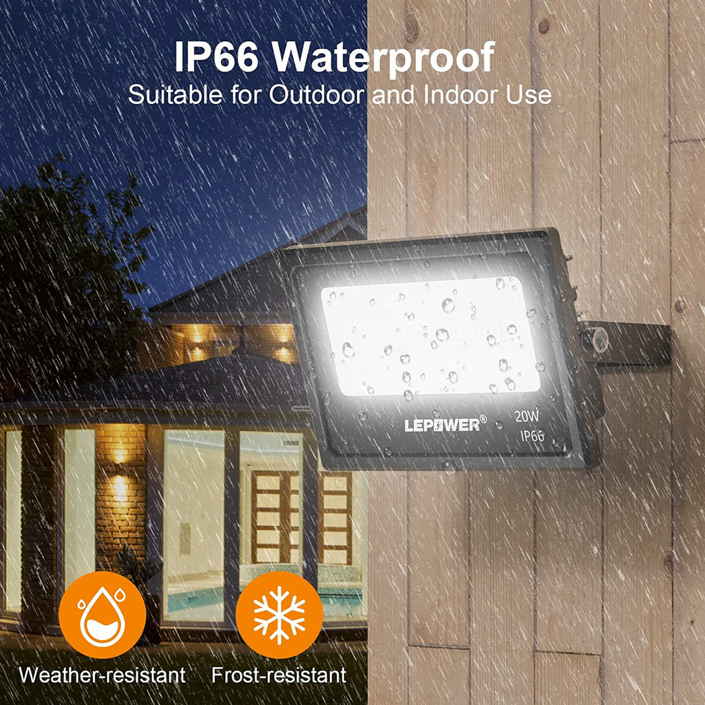 2 Pack 20W Smart LED Flood Lights
