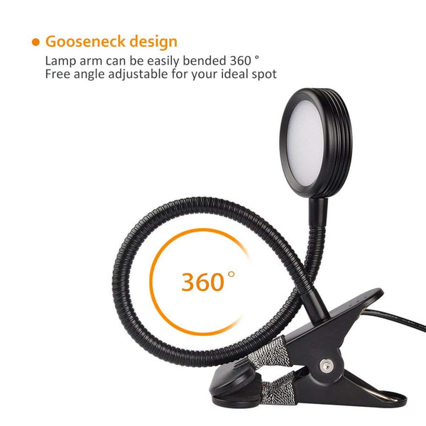 Stepless Adjustable Brightness Clip Light