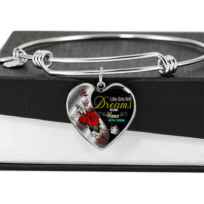 Women With Vision Heart Bangle