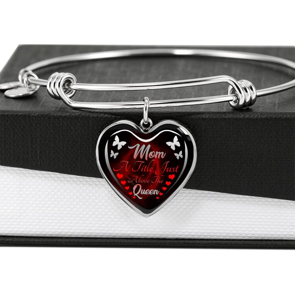 Mom Queen Heart Adjustable Luxury Bangle Jewelry