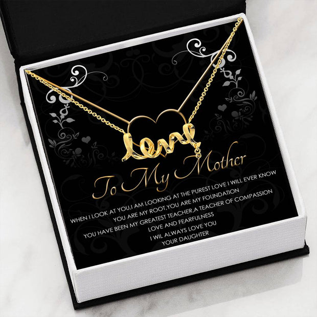Purest Love Scripted Love Necklace