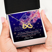 Infinity Hearts Necklace 3 Jewelry 18k Yellow Gold Finish