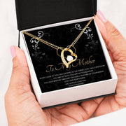Forever Love Necklace 2 Jewelry 18k Yellow Gold Finish