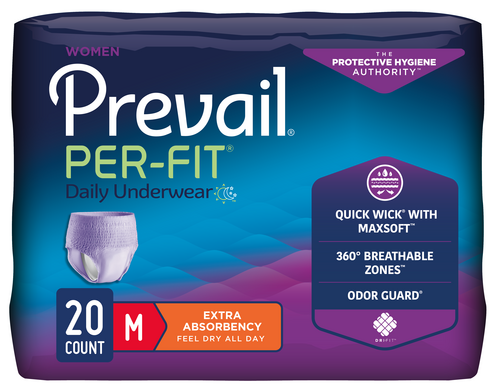 Prevail Per-Fit Pull Up Underwear for Women, Heavy absorbency, Breathable, Stretchable