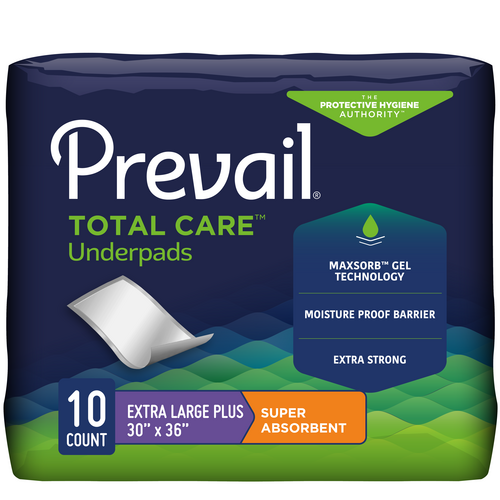 Prevail Super Absorbent Disposable Underpads, Maximum absorbency, Latex-free