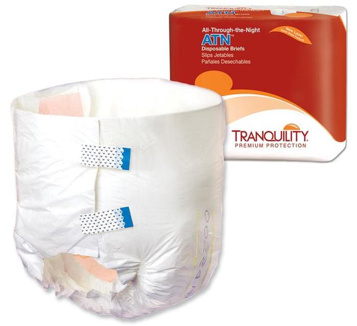 Tranquility All-Through-The-Night Unisex Tabbed Brief, Heavy absorbency, Urine & Fecal