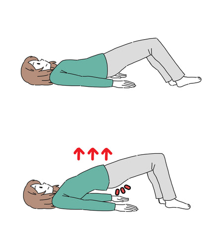 a woman doing kegel exercises for stress incontinence