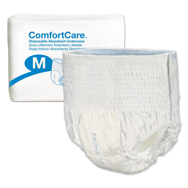 ComfortCare Disposable Unisex Pull Up Underwear, Moderate absorbency, Latex-free Medium - 25/Pack