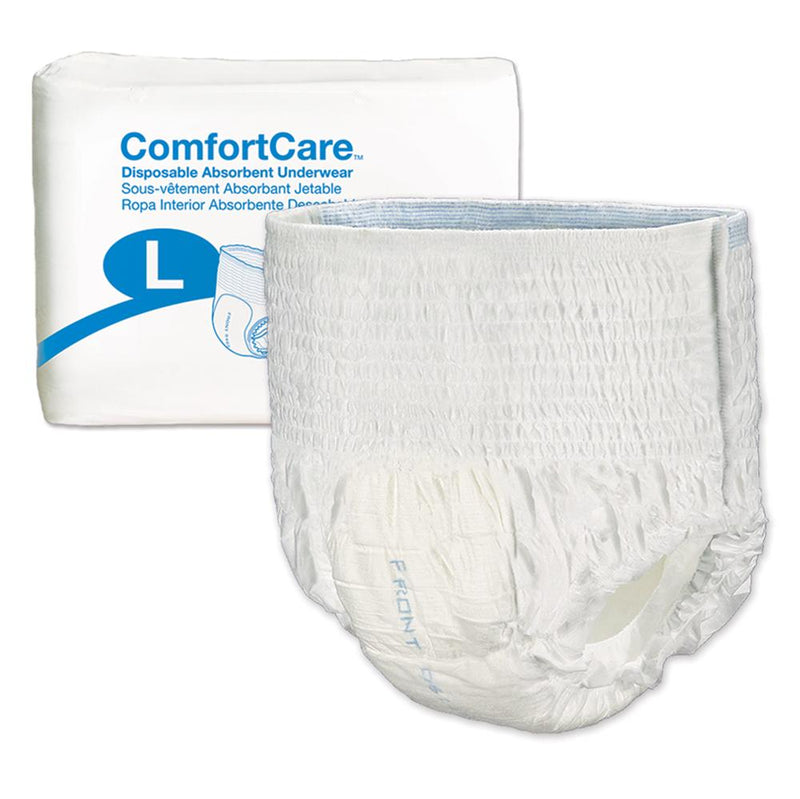 ComfortCare Disposable Unisex Pull Up Underwear, Moderate absorbency, Latex-free Large - 25/Pack