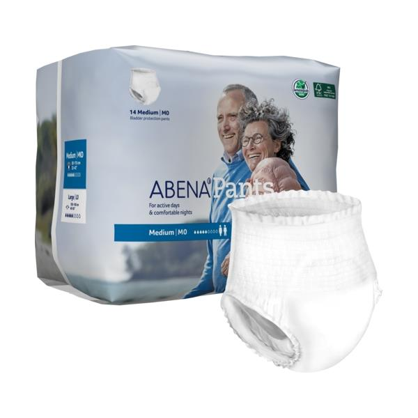 Abena Unisex Pull Up Underwear, Moderate absorbency, Breathable, Classic fit Level 0 Medium - 14/Pack