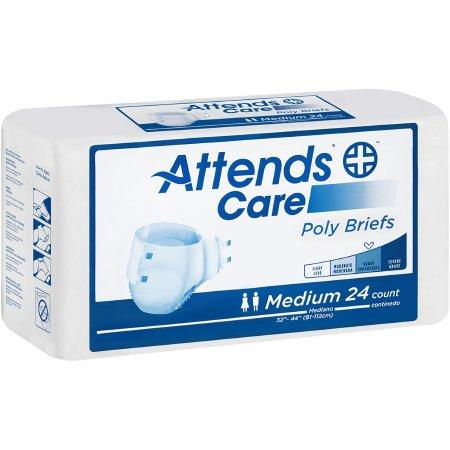 Attends Care Unisex Tabbed Brief, Moderate absorbency, Refastenable Tabs Medium - 24/Pack