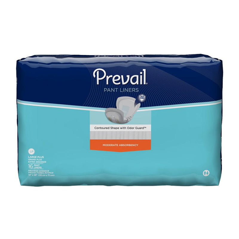 Prevail Unisex Underwear Liner, Moderate absorbency, Breathable, Odor-free Plus - 16/Pack
