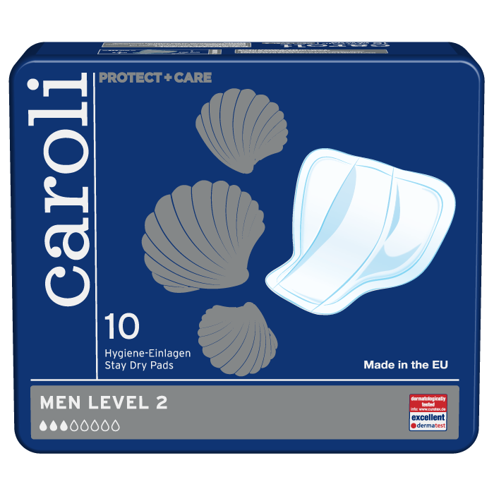 Caroli Men's Incontinence Guards, Level 2 Absorbency, 11