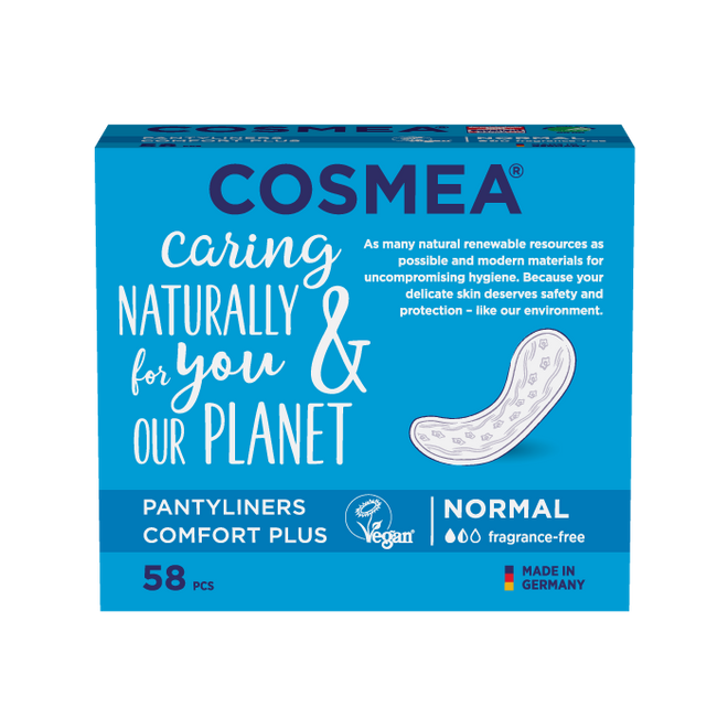 Cosmea pantyliners, regular, unscented.