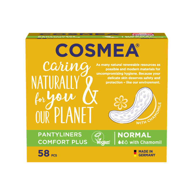 Cosmea chamomile scented pantyliners, regular absorbency