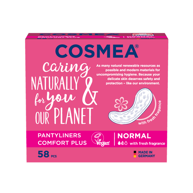 Cosmea floral scented pantyliners, regular absorbency