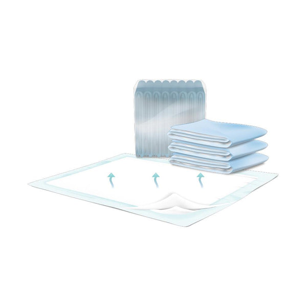 Presto Breathable Disposable Underpads, Heavy absorbency, No-slip backing 12/Pack
