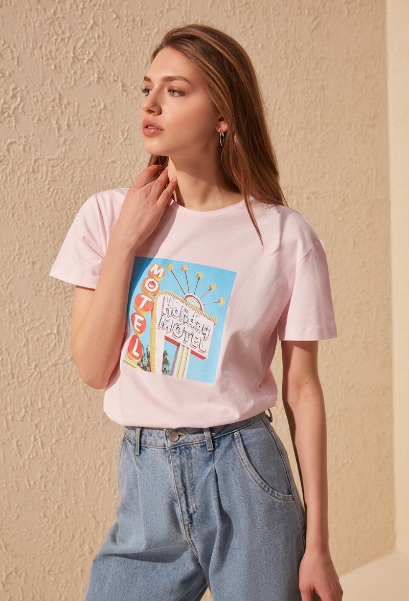 Retro Rose T Shirt