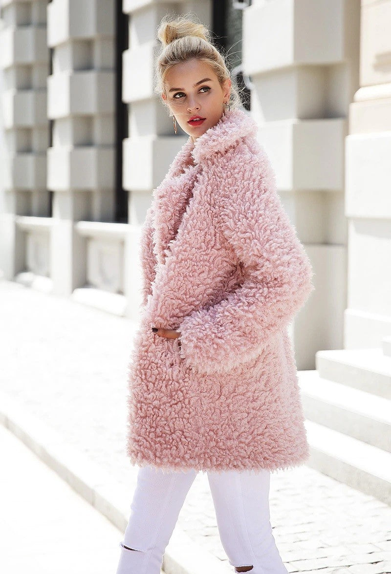 Manteau Polaire Rose