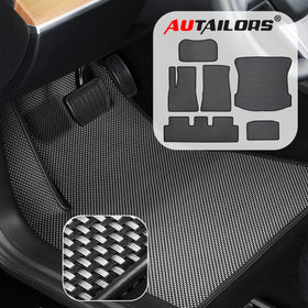 2020 6PCS Floor Mats For Newly Revised Tesla Model 3 in August 2020