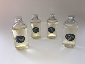 4 x 100ml bottles of almond oil plus grapefruit seed extract refillss