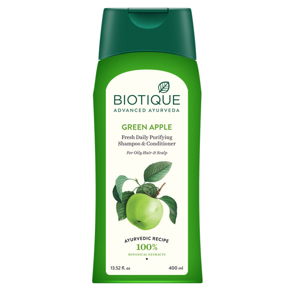 Bio Green Apple Fresh Daily Purifying Shampoo Conditioner For Oily HairScalp Shampoo
